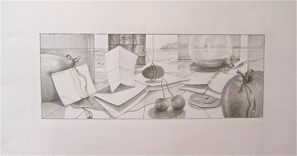 Tekening/40 x 15 cm