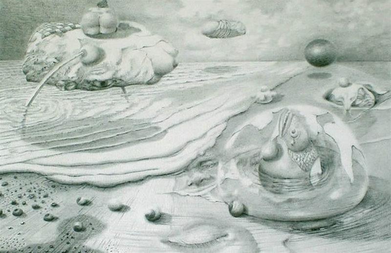 'Loom Voorover' Thema: Evolutie 20 x 29, © 2007, prijs op aanvraag Tweedimensionaal | Tekenkunst | Stift / Krijt / Potlood