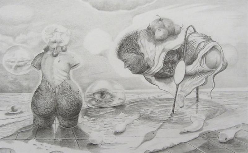 'Brede Heupen' Thema: Evolutie 20 x 29, © 2007, prijs op aanvraag Tweedimensionaal | Tekenkunst | Stift / Krijt / Potlood