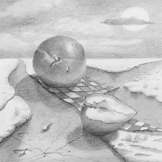 'Pruim' De laatste tekening in een reeks van 6 is de pruim. In China waar de oosterse pruimenboom vroeg bloeit, een belangrijk symbool van zowel lang leven als maagdelijkheid of huwelijksgeluk. Omdat de bloemen al aan het einde van de winter verschijnen, is de pruimenboom, samen met de pijnboom en bamboe, een van de Drie Vrienden van Koning Winter. 12 x 12, © 2006, prijs op aanvraag Tweedimensionaal | Tekenkunst | Stift / Krijt / Potlood