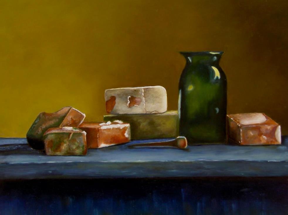 Myra Heimans. Geschilderd naar meester schilder Henk Helmantel.