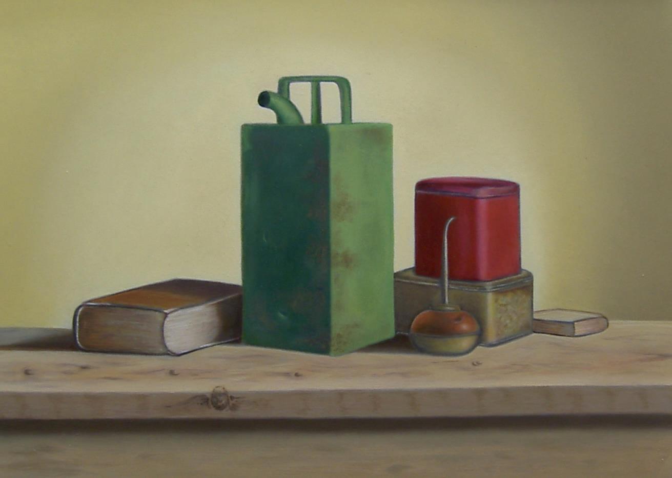 Iet Stammes. Geschilderd naar voorbeeld meester schilder Jos van Riswick.