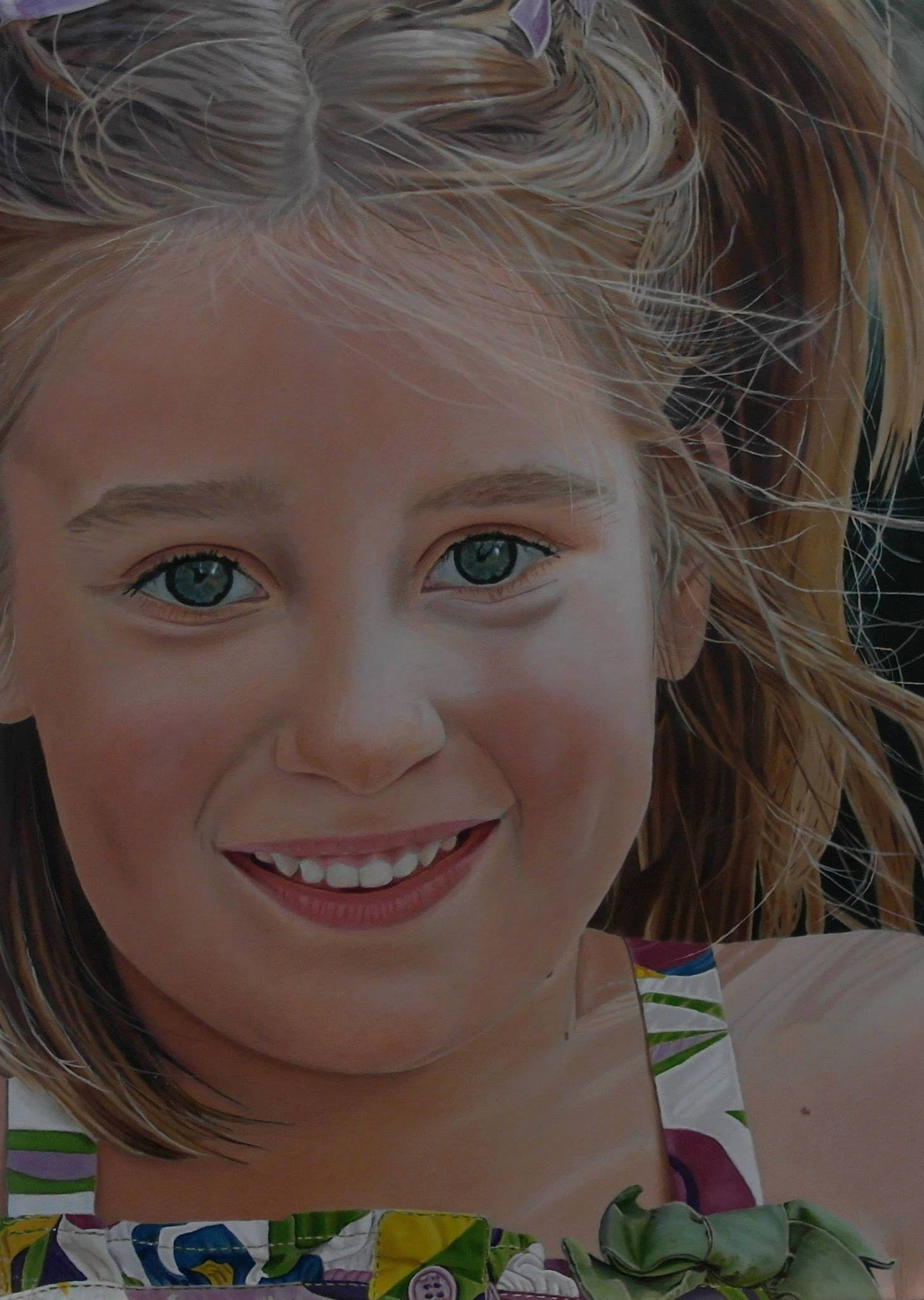 Een prachtig portret van hun oudste dochter. (eigen compositie)