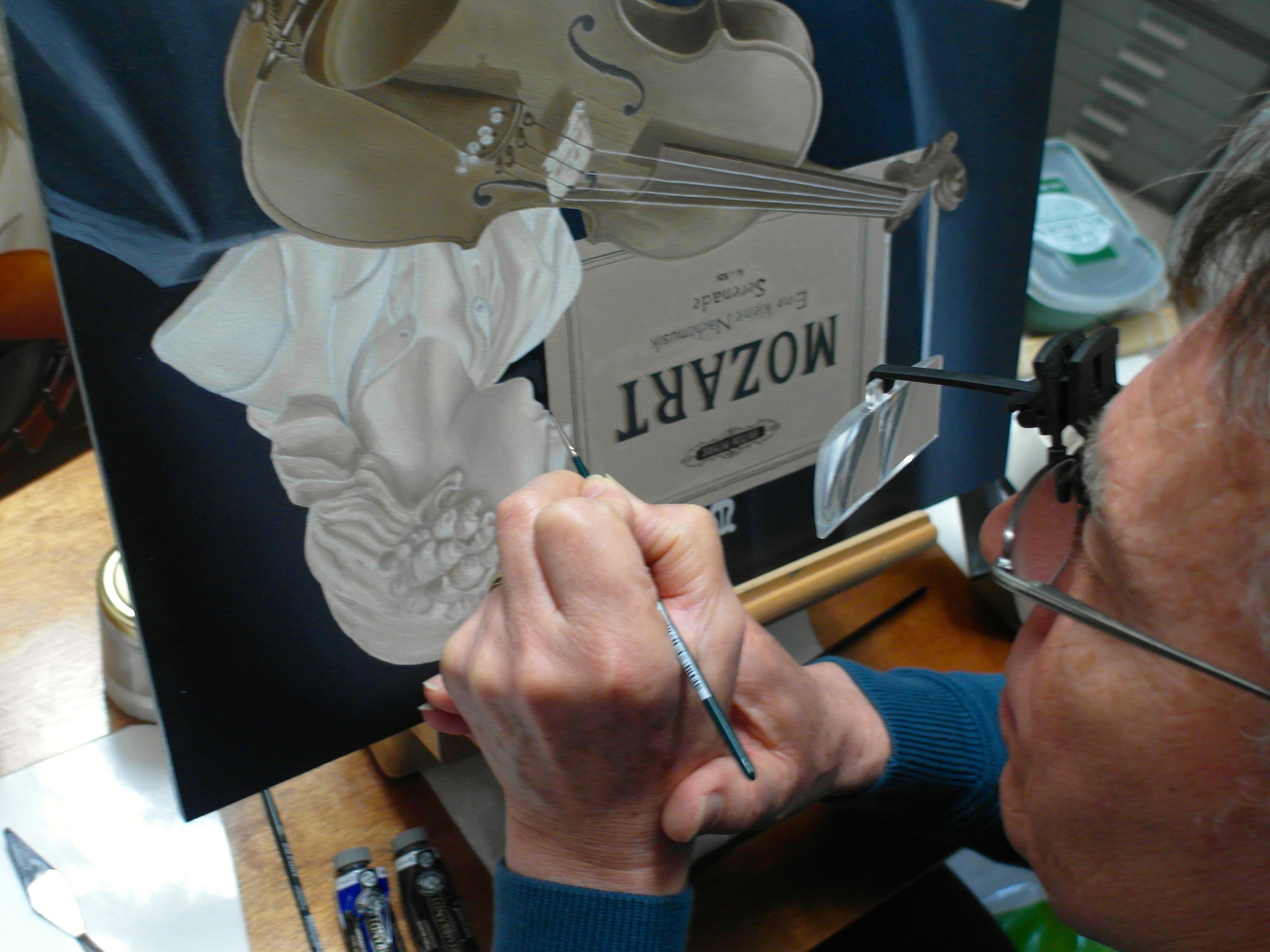 Tot in detail wordt er met uiterste precieze geschilderd, het is soms monnikenarbeid. :-)