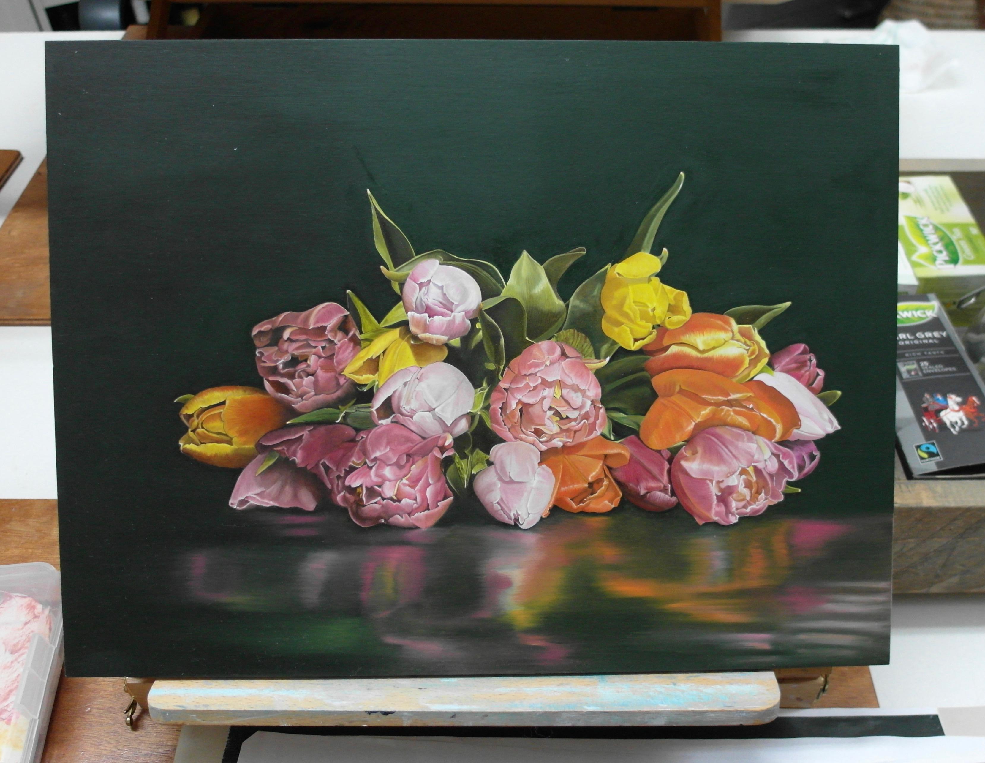 Vrijdagochtend/Manon Babtist/Eigen Compositie/Schilderij inmiddels gereed voor expositie.